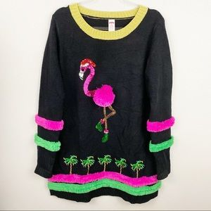 Holiday Time • Flamingo Sweater